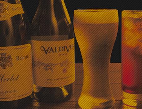 ビールからワインまで洋食に合うお酒多数ご用意してます。
